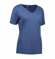 Interlock T-shirt V-hals